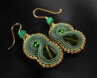 Anything green is Mine - Earrings - #1697