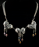 Armored Hearts - Triple Necklace - #1722