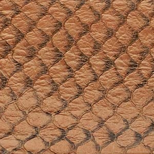 Beige Glossy Fish Leather