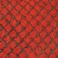 Fish Leather - Red Glossy