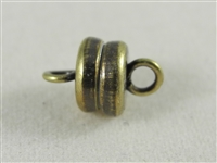 6mm magnetic clasp with Antique Brass finish.