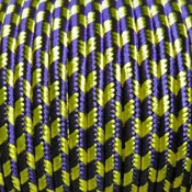 BeadSmith/Helby brand Soutache - Grape-Goldenrod Stripe