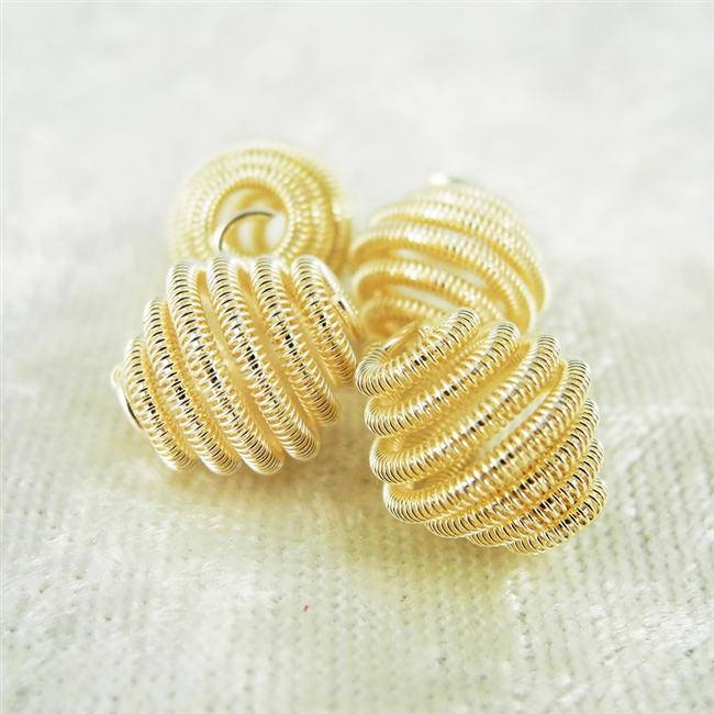 Vintage Spring Beads - Champagne 10mm