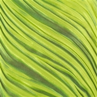 """Lime Wedge"" silk Shibori Ribbon"