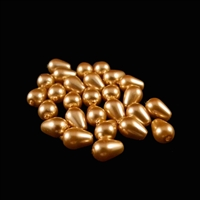 7 x 5 Teardrop Shaped Glass Pearls - Gold