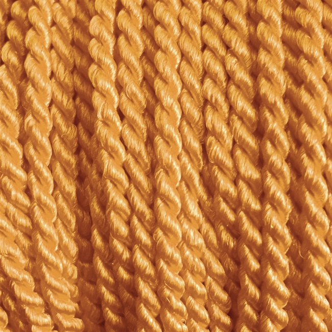 "1 yd. 2.5 mm Twisted Rayon Cord - color ""Copper"""