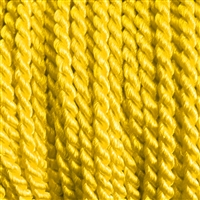 "1 yd. 2.5 mm Twisted Rayon Cord - color ""Yellow Gold"""