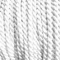 "1 yd. 2.5 mm Twisted Rayon Cord - color ""White"""