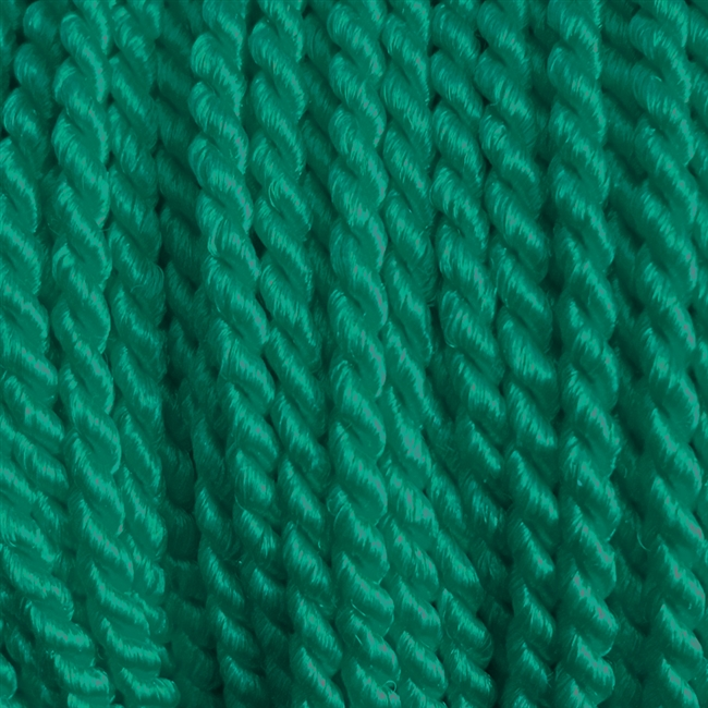 "1 yd. 2.5 mm Twisted Rayon Cord - color ""Dark Green"""