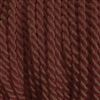 "1 yd. 2.5 mm Twisted Rayon Cord - color ""Brown"""