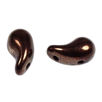 Zoliduos - 5x8mm 2-hole bead - LEFT - 25 PER BAG - DARK BRONZE