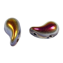 Zoliduos - 5x8mm 2-hole bead - LEFT - 25 PER BAG - JET MAREA