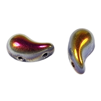 Zoliduos - 5x8mm 2-hole bead - RIGHT - 25 PER BAG - JET MAREA