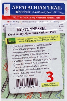 AT- 03 Appalachian Trail Pocket Profile NC/TN Great Smoky Mt. Nat. Park