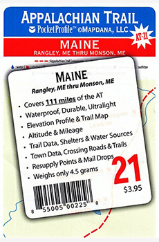 Appalachian Trail: A Trail Pocket Profile AT-21: MAINE