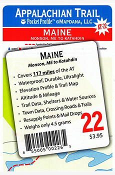 Appalachian Trail: A Trail Pocket Profile AT-22, Maine