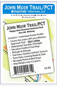 John Muir Trail map and profile
