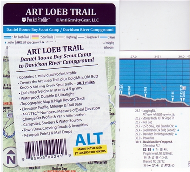 Art Loeb Trail Elevation Profile Map (2020 edition)