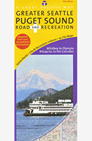 Greater Seattle Puget Sound Road and Recreation Map,97800938011521