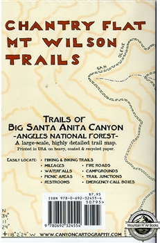 Map- Chantry Flat Mt. Wilson Trails (Ca)