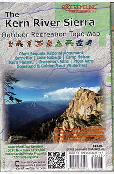 The Kern River Sierra Outdoor Recreation Topo Map