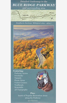 Blue Ridge Parkway Map Southern Section