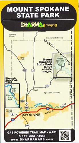 Spokane Elevation Map.Mount Spokane State Park Map