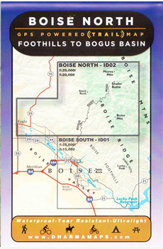 Boise Map; Foothill to Bogus Basin
