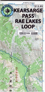 Kearsage Pass Rae Lake Loop Trail Map (2020)