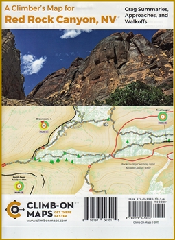 A Climber's Map for Red Rock Canyon, NV