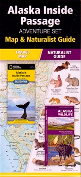 A Folding Pocket Guide to Familiar Local Animals, plus a National Geographic, Alaska Inside Passage Map