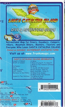 MAP- Santa Catalina Island Dive and Adventure Guide