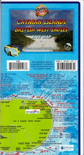 Cayman Islands, British West Indies DIVE Map