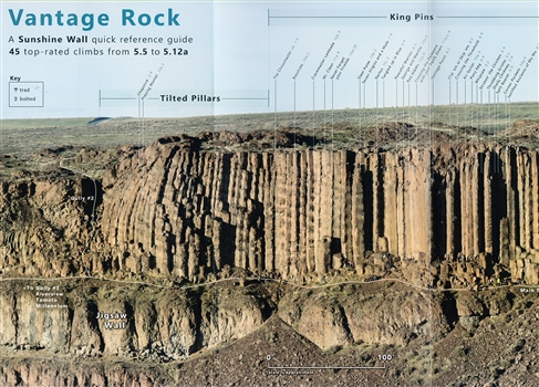 Vantage Rock - Sunshine Wall reference guide to 45 top-rated climbs from 5.5 to 5.12a