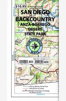 Tom Harrison's San Diego Backcountry map