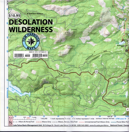 Desolation Wilderness Trail Map on