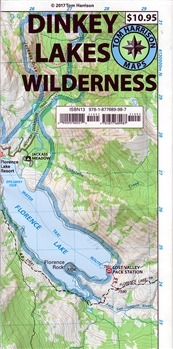 Dinkey Lakes Wilderness map, Tom Harrison