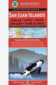map of San Juan Islands, Washington State