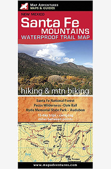 Santa Fe Mountains Waterproof Trail Map