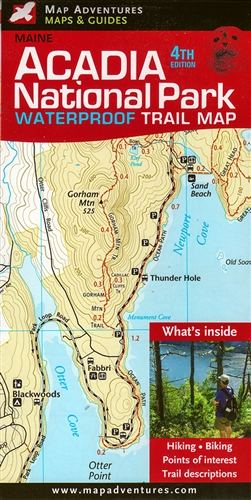 Map Adventures; Acadia National Park Trail Map