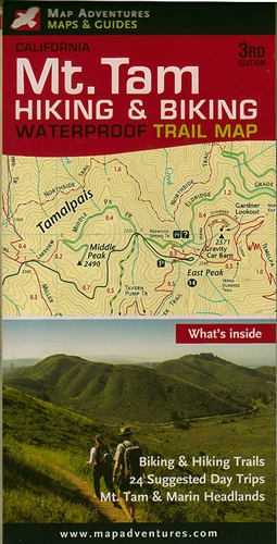 Mt  Tam Hiking & Biking Trail Map (3rd edition)