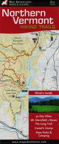 Northern Vermont Hiking Trails Map (4th edition)