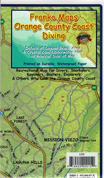 Orange County Coast Diving Map