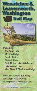 Map- Wenatchee & Leavenworth, WA Trail Map