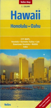 Earlier edition (2014) of  Honolulu Oahu Nelles Map