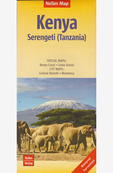 Waterproof travel map of Kenya - Serengeti (Tanzania)