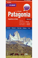 Patagonia Map, Chile and Argentina