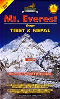 A climbing map to Mt. Everest from Tibet and Nepal