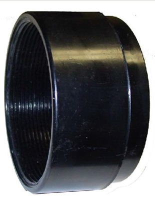 "Jay R. Smith 0100C-P ABS adjust-to-wall coupling 2-1/2"" long with knockout test cap"