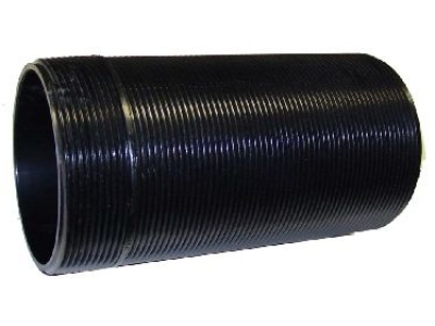 "Black ABS Nipple 8-1/4"" 4-1/2"" O.D. 8 Threads Per Inch 0100N08P"